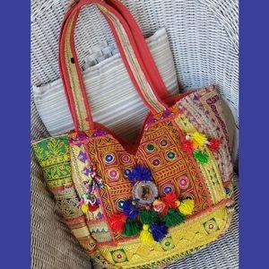 Boho Hippie Gypsy BANJARA artisan Embroidered bag